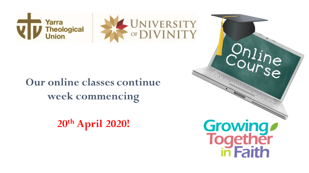 Online Classes Resume Yarra Theological Union